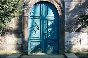 a metalic door